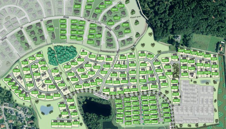 oversigt over byggegrunde lille størrelse